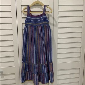 Cat & Jack casual dress blue with colored stripes